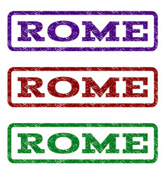 rome watermark stamp vector image