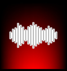 sound waves icon postage stamp or old photo style vector image