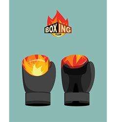 Boxing gloves fire vector