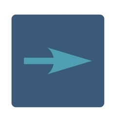 Arrow axis x flat cyan and blue colors rounded vector