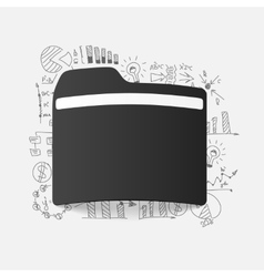 Drawing business formulas folder vector