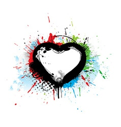 grunge heart vector image