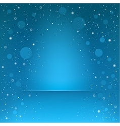 Blue snow podium vector