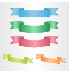 Several colorful ribbons vector