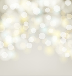 Abstract silver bokeh simple background vector image