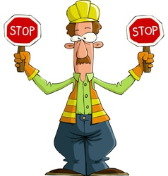 road worker vector image