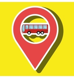 Red signal red bus isolated icon design vector