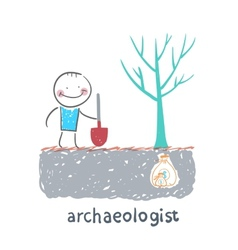 Archaeologist is the place where the money is vector