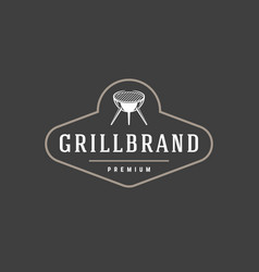 barbecue logo template object for logotype vector image vector image