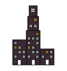 Building cityscape isolated icon vector