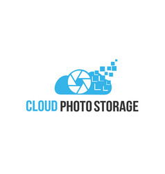 Cloud stroge photo logo vector