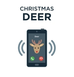Concept of personalized phone call from christmas vector