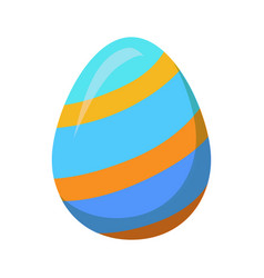 Easter egg with golden stripes or lines vector