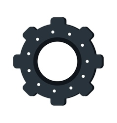Gear wheel engine teamwork vector