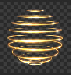 gold circle light tracing effect glowing magic 3d vector image vector image