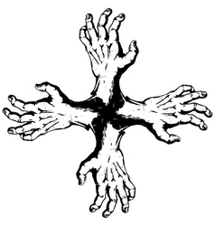 Kross of hands vector