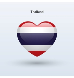 Love thailand symbol heart flag icon vector