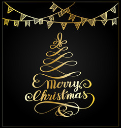 Merry christmas lettering vector