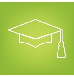 Mortar board or graduation cap line icon vector