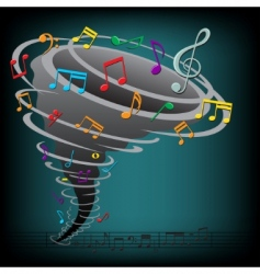 music tornado vector image