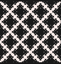 Oriental pattern square figures crosses vector