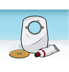 ostomy bag vector image