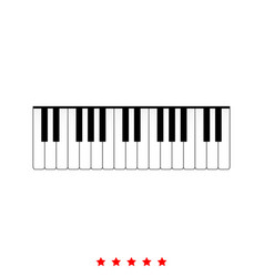 piano keys it is icon vector image