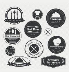 restaurant retro vintage logo vector image