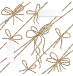 Rope bows ribbons and labels vector image vector image