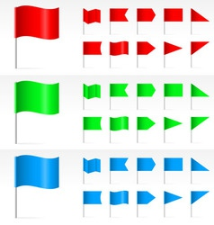 set of simple banners vector image