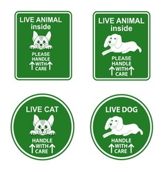 Set of stickers for pet cage vector