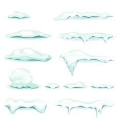 Snow and ice elements set vector