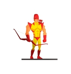 Superhero on white background vector image