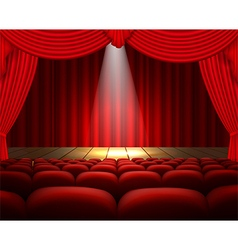 The theater stage background vector image vector image