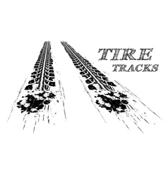 Tire tracks vector image vector image