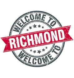 Welcome to richmond red round vintage stamp vector