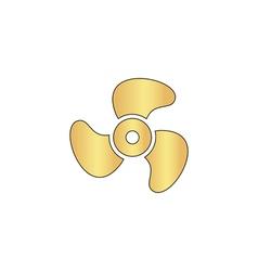 Propeller computer symbol vector image