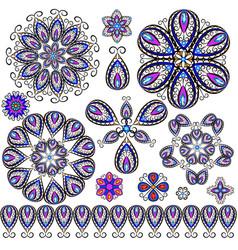 Set of jewelry design element vector