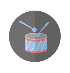 Drump instrument isolated icon vector