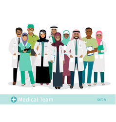 Muslim hospital team vector