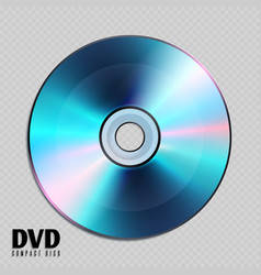 Realistic cd or dvd compact disk close up vector