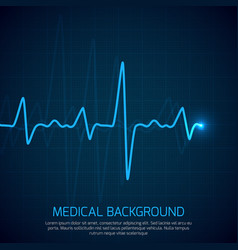 Healthcare medical background with heart vector