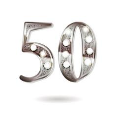 50 years anniversary celebration design vector image