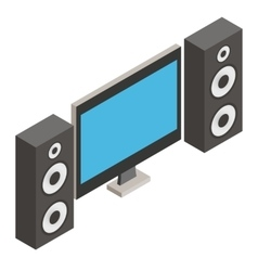 Home theater isometric 3d icon vector