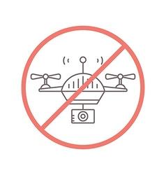 No drones allowed vector