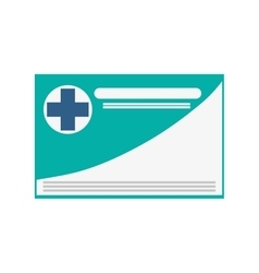 medical insurance card icon vector image