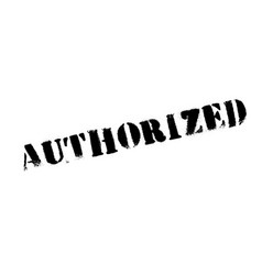 Authorized rubber stamp vector