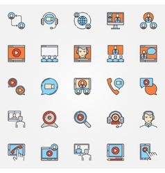 Business communication icons vector