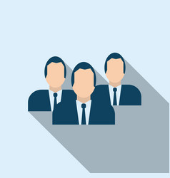 Business team icon in flat style vector