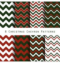 Christmas chevron pattern collection vector